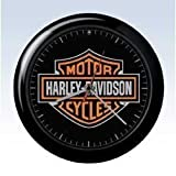 Harley Davidson 8 Inch Bar & Shield Wall Clock With Sound