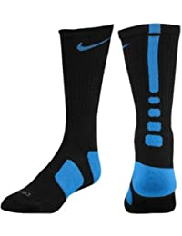 ELITE CUSHIONED BASKETBALL CREW SOCKS BLACK GAME ROYAL SX3693-004 SIZE 8-12. NIKE