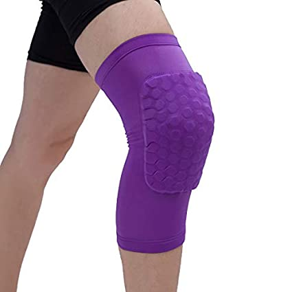 Hosaire 1X Cellular Basketball Shockproof Breathable Short Knee Pads Outdoor Running Fitness Professional Sports Knee Pads Black