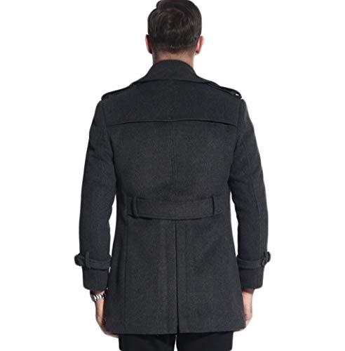 A Doppio Lana 2xl colore Doppiopetto Da Cappotto Stile Dimensioni Ljxwh S Petto Invernale L Uomo Blu Di Giacca Gray Britannico vCPEZqx