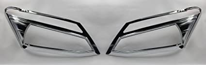Isuzu All New D-max 2012 Chrome Head Light Lamp Cover Molding Trim