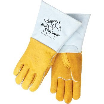 Revco 850M Flame Resistant Nomex Lined Elkskin Stick Welding Gloves M (Gloves Welding Stallion Black)