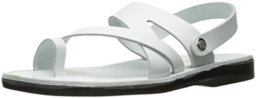 outlet shop offer Jerusalem Sandals Men's Benjamin Toe Ring White clearance mu6TozFc4