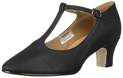 "Bloch Dance Women's Chord T-bar Strap Leather 2"" Heel Character Shoe"