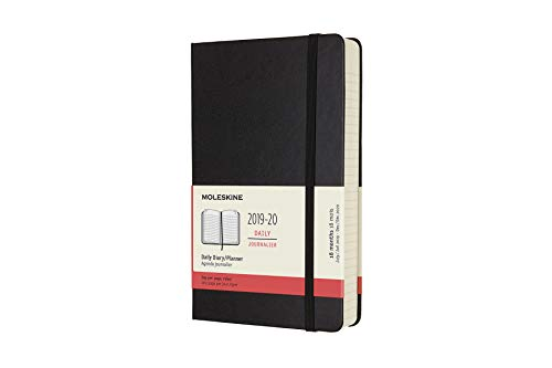 - Moleskine Classic 18 Month 2019-2020 Daily Planner, Hard Cover, Large (5