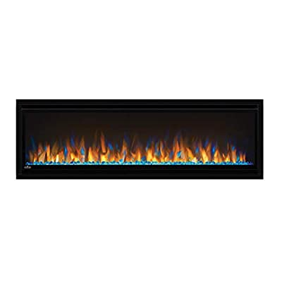 Alluravision 50 Slimline Electric Fireplace with Glass Front - Black