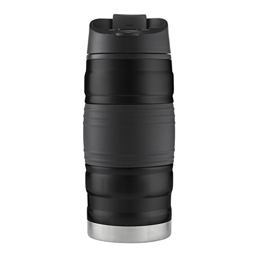 Bubba HERO Fresh Insulated Stainless Steel Travel Mug with Grip, 12 oz, Black by BUBBA BRANDS (Image #6)