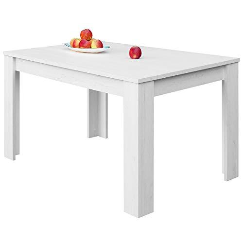 COMIFORT – Mesa De Comedor Extensible Moderna de 120 a 170 cm, Medidas 120/170x75x78 cm, Disponible en Colores: Blanca, Blanco/Roble, Roble, Wengue, Nordic (Nordic)