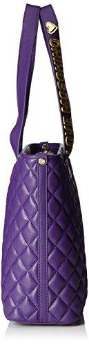 Love Moschino Borsa Nappa Pu Trapuntata Viola - Borse a secchiello Donna, Violett (Violet), 28x43x12 cm (B x H T)