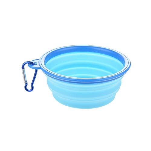 PEHTEN Folding Dog Bowl Portable Travel Bowl Dog Feeder Drinking Water Food Container Silicone for Small Mudium Dog Pet Accessories 22 12.8x5.5cm