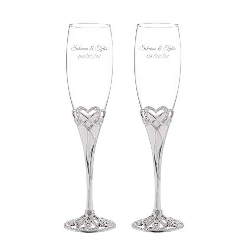 Things Remembered Personalized Infinity Heart Champagne Flute Set with Engraving Included by Things Remembered (Image #1)