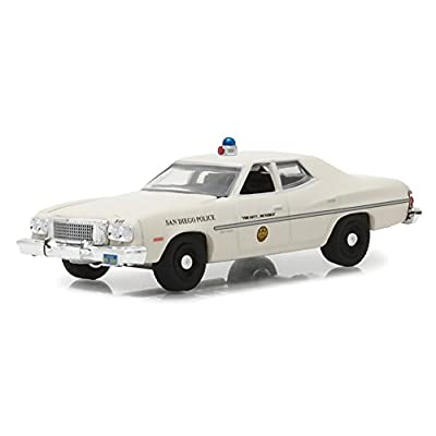 1975 Ford Gran Torino Police San Diego, California Hot Pursuit Series 27 1/64 Diecast Model Car by Greenlight 42840 A: Toys & Games