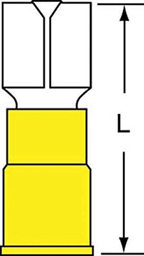 (3M Scotchlok Female Disconnect, Vinyl Insulated Butted Seam w/Interlocking Barrel MVI10-250DFK, 12-10 AWG)