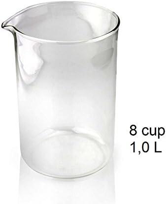 Cristal vaso de recambio de repuesto para cafetera de émbolo, 8 tazas, 1000 ml: Amazon.es: Hogar