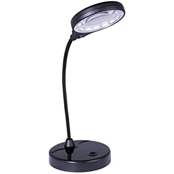 Lightaccents Battery Operated Lighted Magnifier Desk Lamp