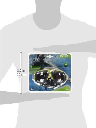 Intex Tauchermaske Surf Rider Gafas Nataci/&Oacuten Ajustable Surtidas: Verde y roja Deportes y Aire Libre