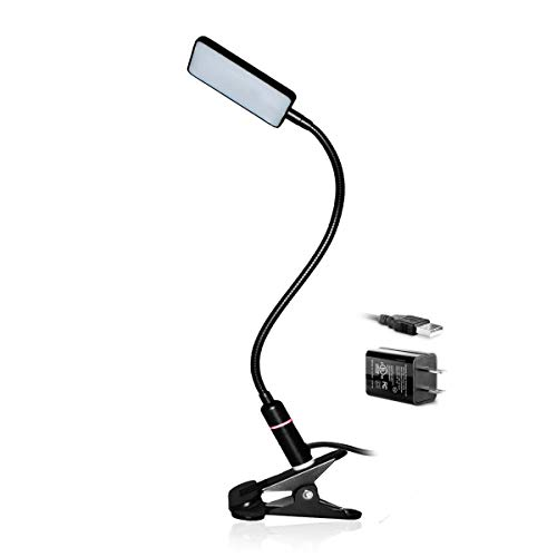 LED Clip Lamp – 3 Brightness Mode – Sensor Touch – USB Plug & Adapter – Black