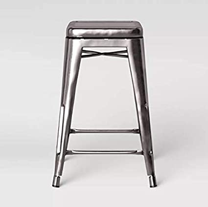 Cool Amazon Com Threshold Carlisle Backless Swivel 1 Counter Creativecarmelina Interior Chair Design Creativecarmelinacom