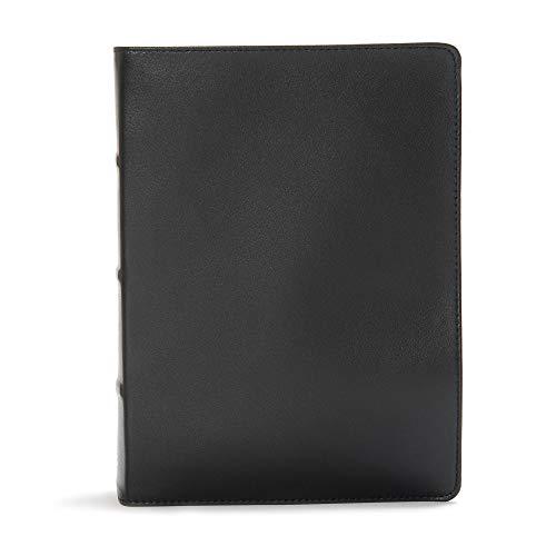 CSB Study Bible, Premium Black Leather,