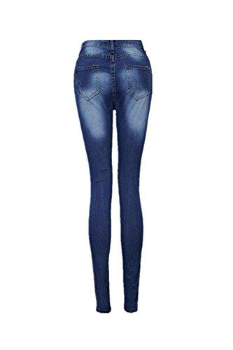 Serrs Blue Occasionnel Rip En Trou Denim Les XXL Laver Pantalons Pantalon Femmes Legging wUP6Fq6I