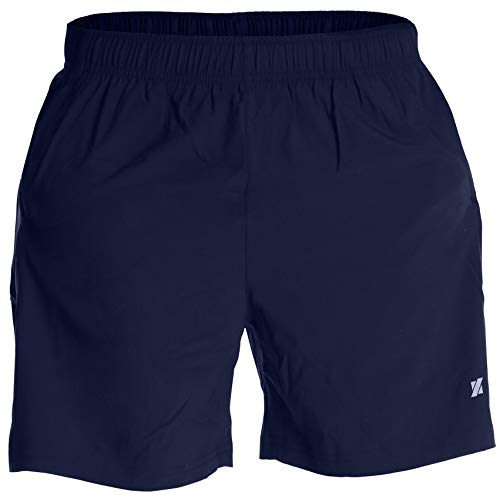 Fort Isle Men's Running Shorts - L - Navy - Quick Dry Breathable - Gym, Workout, Yoga, Training