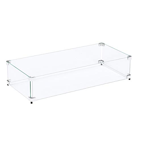 Celestial Fire Glass Fire Pit Flame Guard for 24