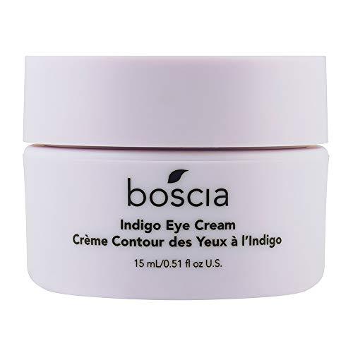 boscia Indigo Eye Cream - Natural Wild Indigo Brightening and Color-Correcting Under Eye Cream, 0.51 Fl - Indigo Cream