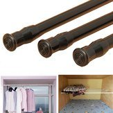 Drapery Pole Closet - Extendable Adjustable Spring Tension Window Curtain Rod Pole Telescopic Shower - Pall Gat Perch Press Cell Mantle - 1PCs