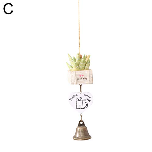 Finance Plan Household Mini Succulent Animal Card Wind Chime Kids Room Car Hanging Decor Birthday Gift