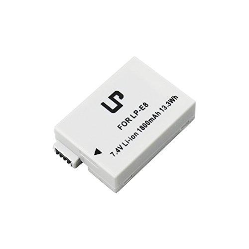 LP LP-E8 Camera Batteries,for Canon Rebel T3i, T2i, T4i, T5i, EOS 600D, 550D, 650D, 700D, Kiss X5, X4, Kiss X6, LC-E8E