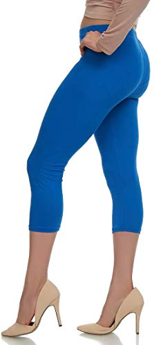 LMB Lush Moda Extra Soft Capri Leggings - Variety of Colors - Royal Blue