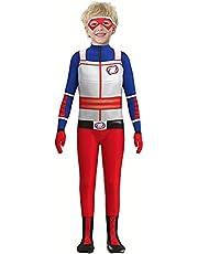 Waslary Kid Danger kostuum bodysuit superhero cosplay met oogmasker 3D stijl Henry Danger kinderkostuum kinderkleding carnaval verkleding Kerstmis party Halloween feest