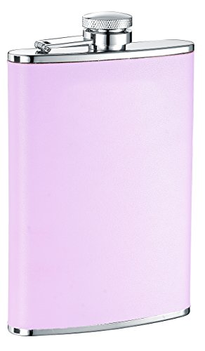 Visol Daydream Leather Liquor Flask, 8-Ounce, Pink ()