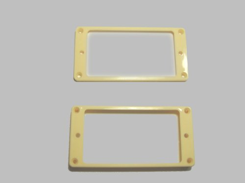 Mounting Ring Set (MIJ Pickup Rings for Humbucker Flat-Top Set ivory fa-pur-ft2-ivy)