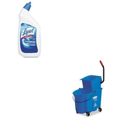 KITRAC74278CTRCP758888BLU - Value Kit - Rubbermaid-Wave Brake 32 Quarts Side Press Combo,Blue (RCP758888BLU) and Professional LYSOL Brand Disinfectant Toilet Bowl Cleaner (RAC74278CT)