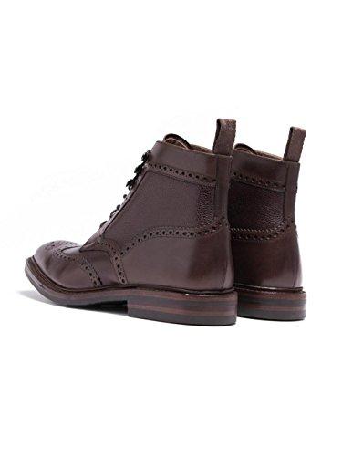 Loake Hombres becerro botas bosworth derby Marrón Oscuro Marrón Oscuro