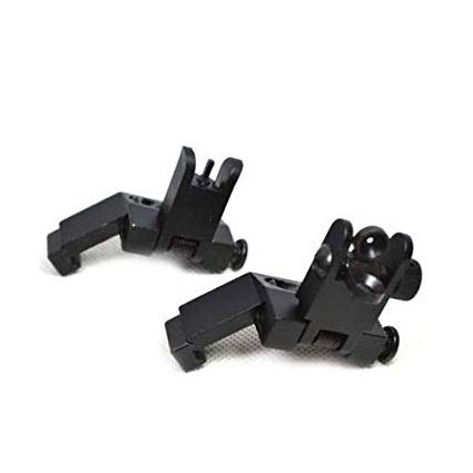 Why Choose GOTICAL Tactical Front and Rear flip up 45 Degree Rapid Transition BUIS Backup PPS Sight ...