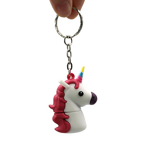 Sundiao Lovely Cartoon Unicorn PVC USB Flash Drive 2.0 Cute Gift USB Flash Memory Disk USB Flash Stick Pen Drive (32GB, White) by SunDiao (Image #3)
