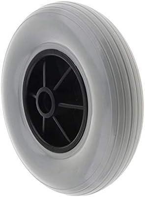 B Baosity Rueda sólida de 8 pulgadas, ruedas delanteras para sillas de ruedas, ruedas de repuesto para ruedas de paseo, antideslizante, resistente al ...