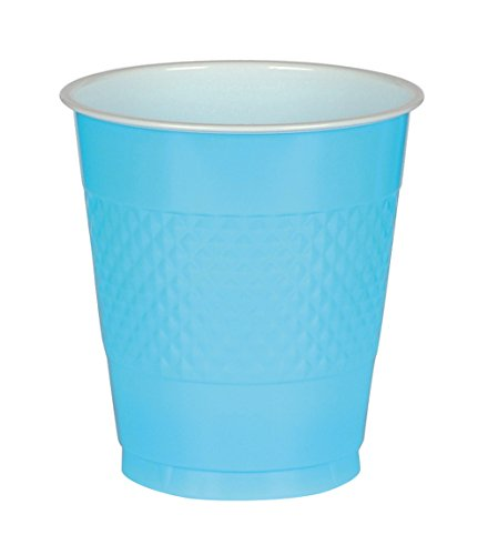 Carribean Blue, Big Party Pack, Plastic Cup 16 oz, 50 Per Pack