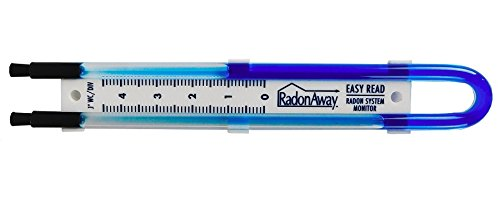 RadonAway 50017 Easy Read Manometer, Blue