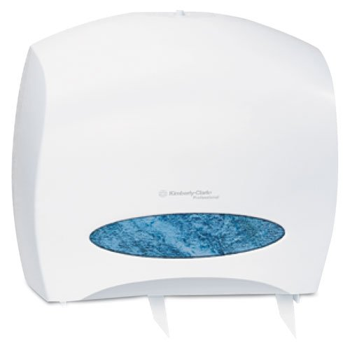 - Kimberly-Clark Professional 09508 JRT Jr. Escort Jumbo Roll Bath Tissue Dispenser, 16 x 5 4/5 x 14, White