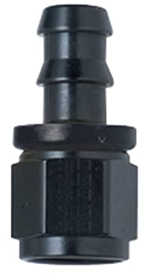 Fragola 200112-BL Black Size (-12) Straight Push Lock Hose Fitting