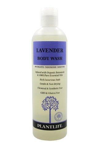 Plantlife Lavender Body Wash (or Shower Gel)- 14 fl oz- made with organic ingredients and 100% Pure Essential Oils Gardenia Rose Shower Gel