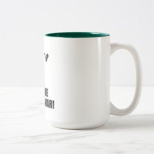 Zazzle 1-2-3-4 I Declare a Thumb War B-w Mug, Hunter Green Two-Tone Mug 15 oz