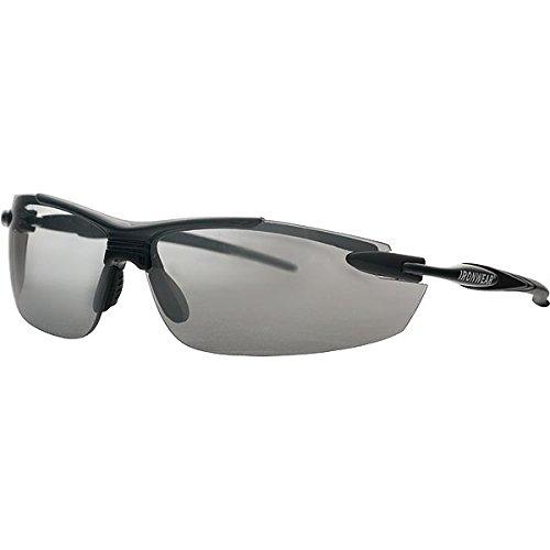 Ironwear Madison 3006 Series Nylon Protective Safety Glasses, Silver Mirror Lens, Black Frame ()