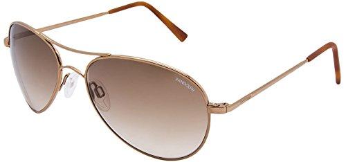Randolph Women's Amelia AA7C404-NY Aviator Sunglasses, Chocolate Gold, 57 - Ny&c Sunglasses