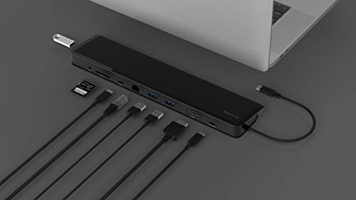 Juiced Systems ChockDOCK v2 - Universal USB-C Laptop Docking Station - 1x USB-C Power Delivery | 1x USB-C 3.1 Gen 2 Data Port | 1x USB 3.1 Gen 2 Port | 2x USB 3.0 Gen 1 | Gigabit Ethernet | SD | AUX by Juiced Systems (Image #9)