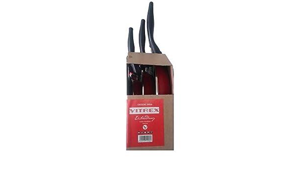 Vitrex CAVM1015 Set de 3 sartenes Maison, Acero esmaltado, Multicolor: Amazon.es: Hogar