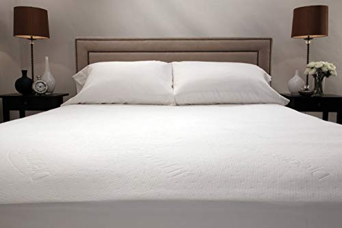 DreamFit 4-Degree Dream Cool Performance Fabric Mattress Protector, King, White (Oversized Mattress Cover)